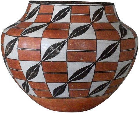 Acoma Black and White Painted Pottery Olla