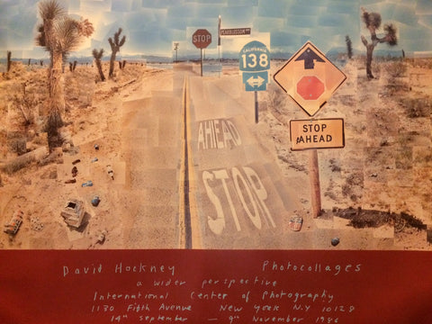 "Exhibition Poster for David Hockney ""A Wider Perspective"" held at the International Center of Photography, New York, 1986"