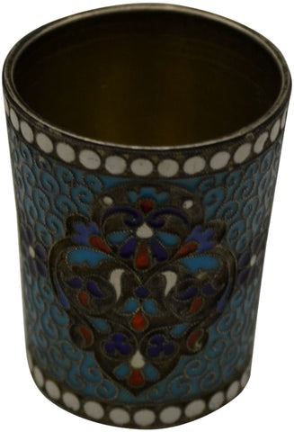 Russian Silver-Gilt and Enamel Small Beaker