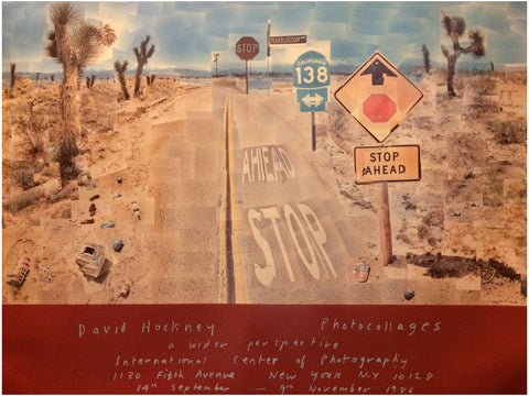 "Exhibition Poster for David Hockney ""A Wider Perspective"""
