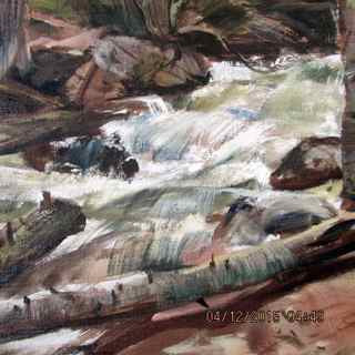George Cherepov (American/Lithuanian, 1909-1987), Spring Runoff, oil on canvas, signed