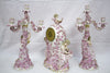 Porcelain Clock and Candelabra Garniture, possibly Meissen, retailed by Bailey Banks & Biddle, Philadelphia, ca. 1890