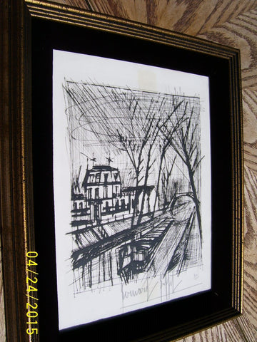 "Bernard Buffet (French, 1928-1999), ""Le Canal"", 1968, drypoint, pencil signed and numbered ""40/200"" (Rheims 62)"