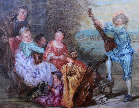 J. J. Dubert (French, 19th Century), Serenade, oil on canvas, signed