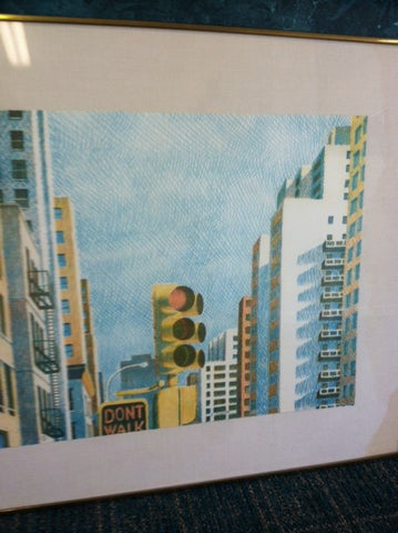 "Yvonne Jacquette (American, b. 1934), ""East 15th Street"", lithograph in colors, 1974, signed, dated and numbered"