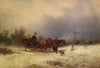 August Von Rentzell (German, 1810-1891) Landscape with Horse and Buggy, oil on canvas, signed