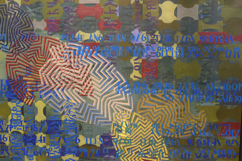 Bange (American School, 20th Century), Untitled/Abstract, 1987, oil on canvas, signed