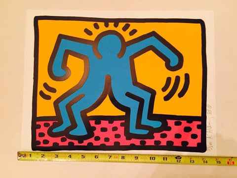 Keith Haring (American, 1958-1990), One Plate: Pop Shop II (Littmann 96), screenprint, 1988, pencil signed, numbered