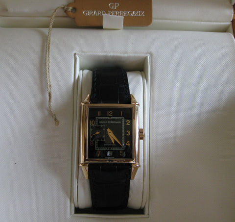"Gentleman's Rose Gold ""Vintage 1945"" Automatic Wristwatch, Ref. 2596, Girard-Perregaux, La Chaux de Fonds, Switzerland, post-2000"