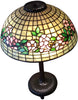 Tiffany Studios Favrile Glass and Bronze Apple Blossom Lamp