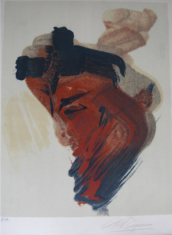 David Alfaro Siqueiros (Mexican, 1896-1974), Meditation (from the Mexican Suite), 1968, lithograph in colors, signed, ed. 250