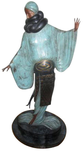 Art Deco Style Polychromed Bronze Figural Sculpture