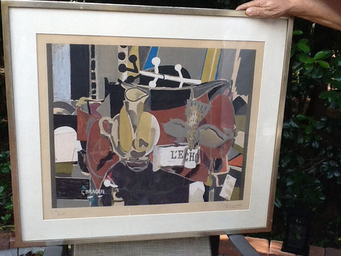 "After Georges Braque (French, 1882-1963), ""L'Echo"" (Maeght 1041), 1960, lithograph in colors, pencil signed, ed. 300"
