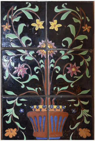 Saracen Six Tile Floral Composition