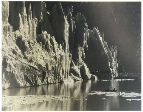 "Bradford Washburn (American, 1910-2007), ""South Crillon Glacier, Alaska"", gelatin silver print mounted to board, signed"