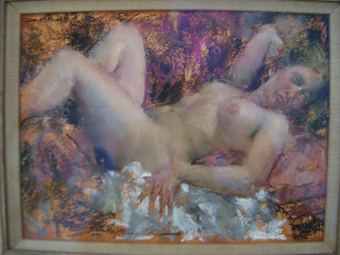 "Ramon Kelley (American, b. 1939), ""Nude"", pastel, signed, 20th century"