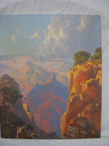 "Rod Goebel (American, 1946-1993), ""Grand Canyon"", oil on canvas, 20th century, signed"