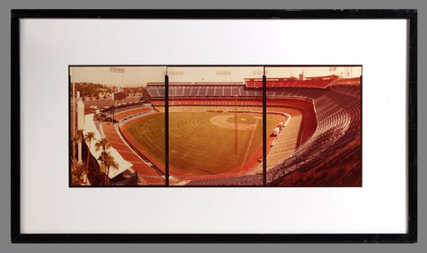 "Jim Dow (American, b.1942), ""Los Angeles Dodgers Stadium"", triptych, ektacolor prints"