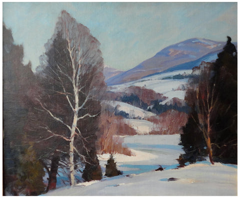Emile Albert Gruppé (American, 1896-1978), Midwinter Afternoon, oil on canvas, signed