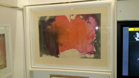 "Helen Frankenthaler (American, 1928-2011), ""Causeway"" from ""Doctors of the World Collection"", 2001, etching and aquatint in colors on wove paper, signed, ed. 100"