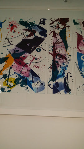 "Sam Francis (American, 1932-1994), ""The Five Continents in Summertime"", 1984, five aquatints in colors, signed, color trial proof"