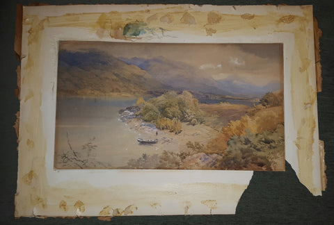 "Thomas Miles Richardson (British, 1813-1890), ""On Loch Awe"", gouache on paper, signed"