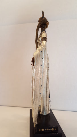 "Art Deco Style Polychrome Bronze Figural Sculpture, 1988, after ""Byzantine"" by Erté (Romain de Tirtoff) (1892-1990), ed. 375"