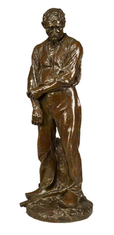 After Aimé-Jules Dalou (French, 1832-1902), Le Grand Paysan, ca. 1910, patinated bronze