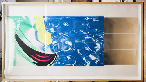"James Rosenquist (American, b. 1933), ""Horse Blinders (West)"", 1972, lithograph in colors with silver foil, signed, ed. 85"