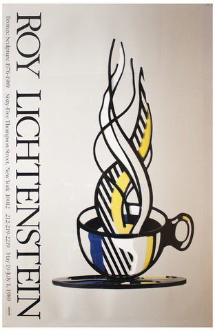 Exhibiton Poster, after Roy Lichtenstein (American, 1923-1997), Bronze Sculpture 1976-1989, offset lithograph