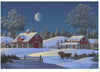 "Jim Buckels (American, contemporary), ""Winterset Farm"", screenprint, signed, ed. 300"