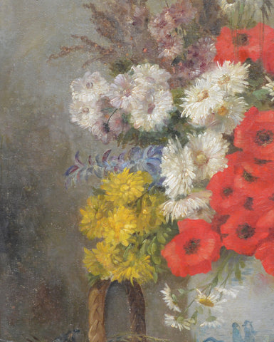 Edmond Van Coppenolle (Belgian, 1846-1914), Floral Still Life, oil on canvas, signed