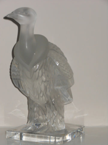 Lalique Frosted and Molded Glass Condor, contemporary, signed