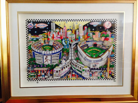 "Charles Fazzino (American, b. 1955), ""Finally a Subway Series!"", 2001, 3-D screenprint, deluxe edition of 100 signed by Bobby Valentine, Joe Tory, and the artist"