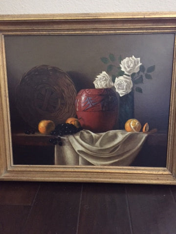 Ernie Morton Baber (American, b. 1949), Still Life, oil on canvas, signed