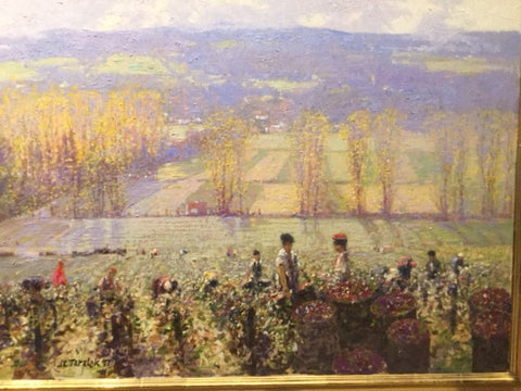 John Terelak (born 1942), The Grape Harvest, 1997, oil on canvas, signed and dated