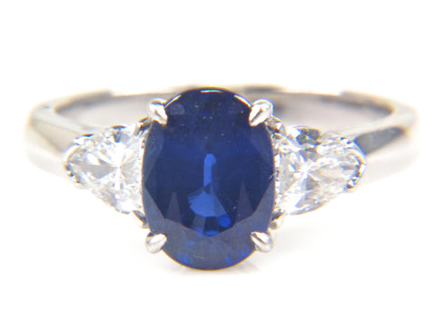 Platinum, Sapphire and Diamond Ring, Contemporary