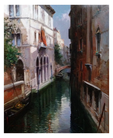 "Claudio Simonetti (Italian, b. 1929), ""Venice"", oil on canvas, signed"