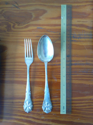 Set of Twelve Danish Silver Forks and Spoons, P. Orsnes Enker & Son, Copenhagen, 1920