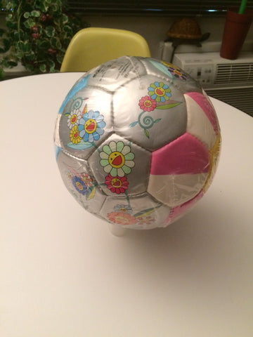 "Takashi Murakami (Japanese, b. 1962), ""Flowerball"" (Soccerball), executed in 2002 and manufactured by Workaholics, Inc."