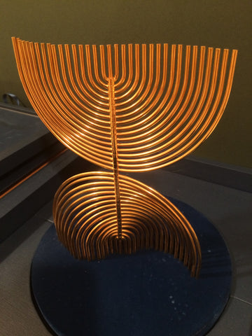 "Yaacov Agam (Israeli, b. 1928), ""The Agam Menorah"", gold plated brass, ed. 900"