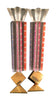 Yaacov Agam (Israeli, b. 1928), Pair of Sabbath Candlesticks, signed and numbered, 20th century
