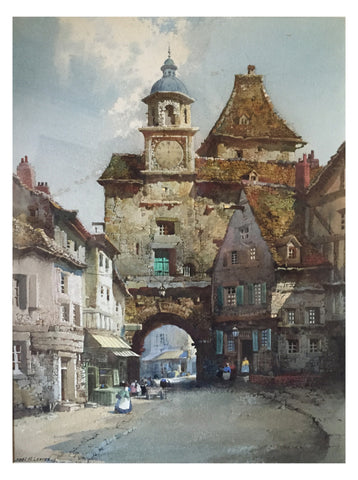 Noel Leaver (British, 1889-1951), Rothenburg on the Tauber, watercolor on paper, signed