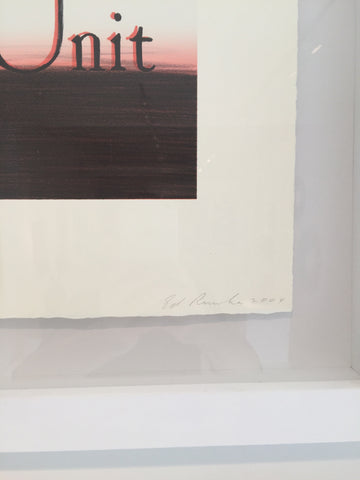 "Ed Ruscha (American, b. 1937), ""Unit"", 2004, lithograph in colors, signed, ed. 40"