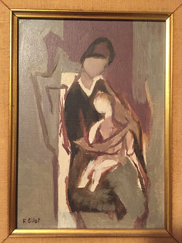 Françoise Gilot (French, b. 1921), Mère et Enfant (Mother and Child), 1958, oil on canvas, signed