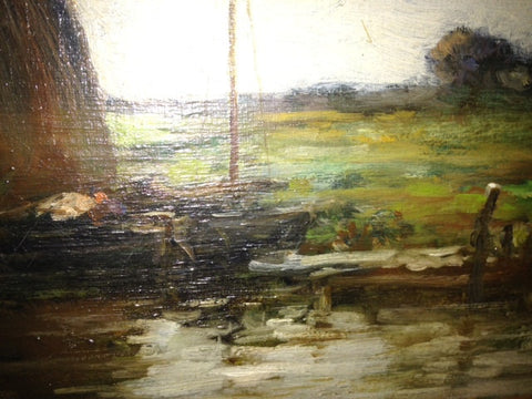 Jacob Henricus Maris (Dutch, 1837-1899), Landscape with a Sailboat, oil on canvas, signed, 19th century