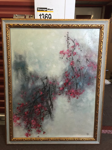 Hu Chi-Chung (胡奇中 Hu QiZhong) (Chinese, 1927 - 2012), Plum Blossom (梅花 MeiHua), 1966, oil on canvas with texture, signed and dated