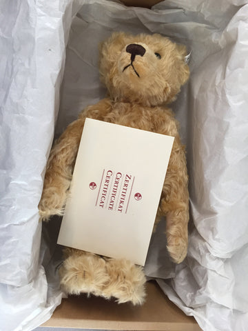 "Steiff ""Teddy Boy 1905"" Light Blond Teddy Bear, 50cm, with Steiff button in ear, with original box, tags, and Certificate of Authenticity, contemporary"