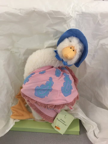Jemima Puddle-Duck, 38cm, Steiff, Germany, with button, original box and tags, contemporary