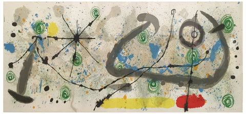 "Joan Miró (Spanish, 1893-1983), Untitled, plate 8 from ""Le lézard aux plumes d'or"" (Mourlot 520), 1967, lithograph in colors, signed, ed. 100"